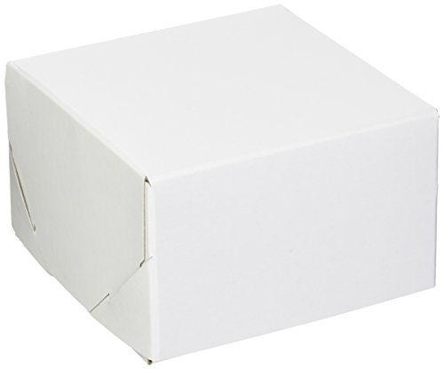 Premier Retail White Gloss Two Piece Gift Box 100 Count 5x5x3 inch (LC53-000) - Five Piece Gift Box