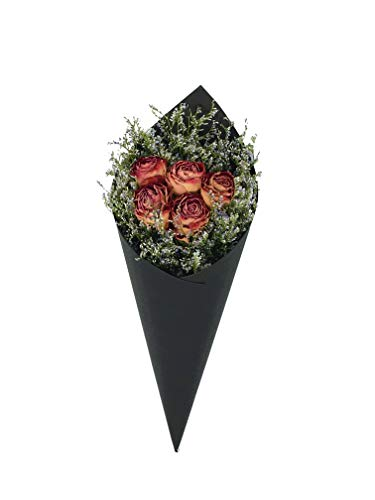 Merci Bliss Natural Dry Flower Arrangements Flowers for delivery Prime - Bouquet Girl Gifts - Home Decor Wall Art - Perfect for Birthday (Red Rose & Misty)