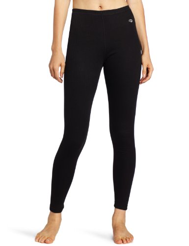 Duofold Women's Mid Weight Wicking Thermal Leggings, Black, Medium