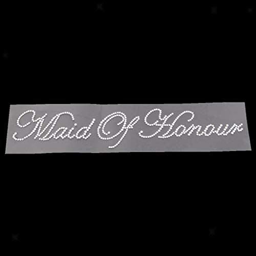BROSCO Novelty Diamante Sticker Transfer Hen Party Wedding DIY Applique Decal DIY Craft   Item - Maid of Honour