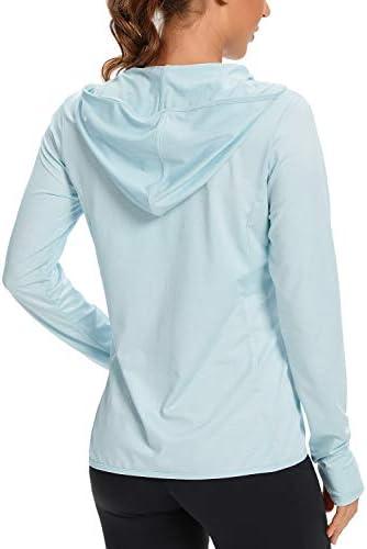 Women's UPF 50+ UV Sun Protection Clothing Zip Up Hoodie SPF Long Sleeve Sun Shirt Fising Hiking Outdoor Performance Jacket
