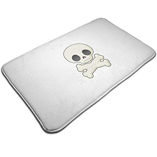 DIDIDI Halloween Skeleton Clipart Cute Throw Area Ground Mat Accent Floor Carpet Outside Door Set Decor Welcome Entryway Rug Sign Celebrate Decorations Ornament]()