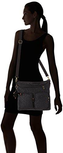 Shoulder Women��s Kipling Tasmo Bag Black Scarlet Emb Black 1qEwd