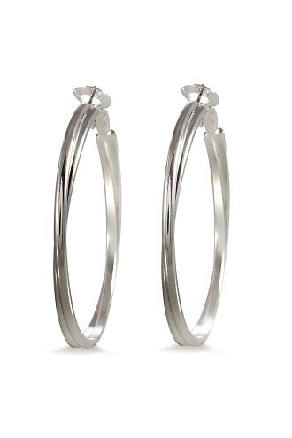 alexa-starr-5290-ep-s-two-row-round-edge-hoop-earrings-silvertone