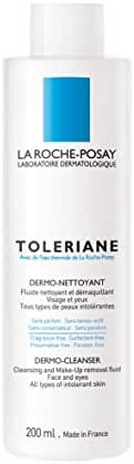 La Roche-Posay Toleriane Dermo Cleanser and Makeup Remover for Sensitive Skin with Glycerin, 6.76 Fl. Oz.