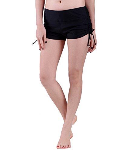 HDE Womens Swim Brief with Ties Mini Boy Short Bikini Bottoms Swimsuit (Swim Tie)