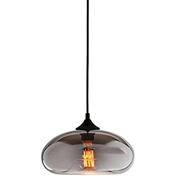 Mirrored Glass 1-Light Pendant Lamp with 1 Vintage Edison