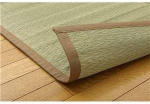 純国産 い草たっぷりカーペット 『座王 無地』 約200×200cm(中材:い草2層)