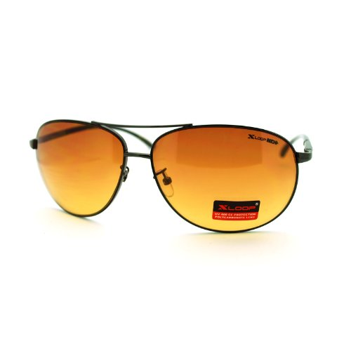 HD Sunglasses High Definition Driving Lens Round Cop Aviators Gun - Sunglasses Aviator Definition High