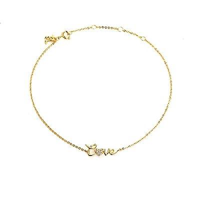 hot sell Blinglane Love Bling Gold Plated Anklet
