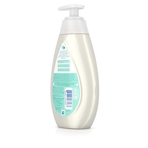 Johnson's CottonTouch Newborn Baby Wash & Shampoo with No More Tears, Hypoallergenic and Paraben-Free Moisturization for Sensitive Skin, Made with Real Cotton, 13.6 fl. oz