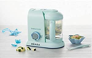 BEABA Babycook Solo Macaron Food Processor, Aquamarine Blue