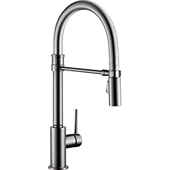 Delta Faucet Trinsic Single Handle Kitchen Sink Faucet With Pull
