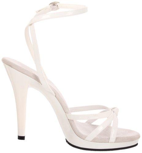 Pleaser FLAIR-436 - Sandalias de pulsera para mujer Blanco