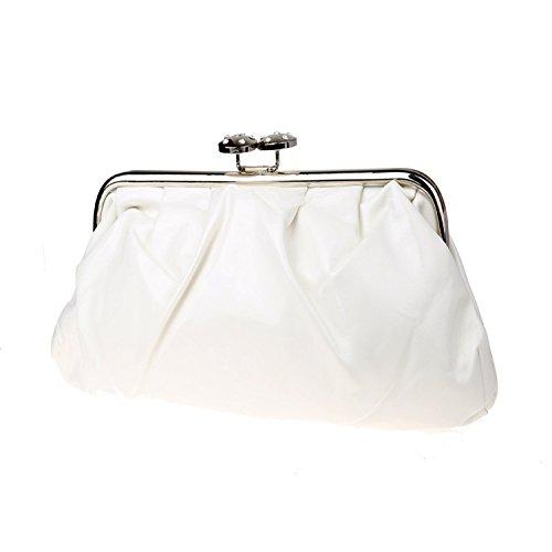 clutch embroidered bag beaded bag bag White Wallets bag bride dinner Handling I84OwR7
