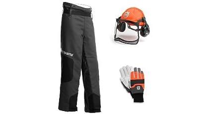 Husqvarna casco, guantes, leggings y botas - Kit C - y un par de