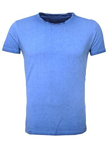 Akito shirt Tanaka Gris Oil Laver Bleu T AAxUrwqO