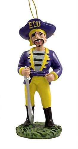 (Oxbay East Carolina ECU Pirates Mascot Resin Christmas Ornament)