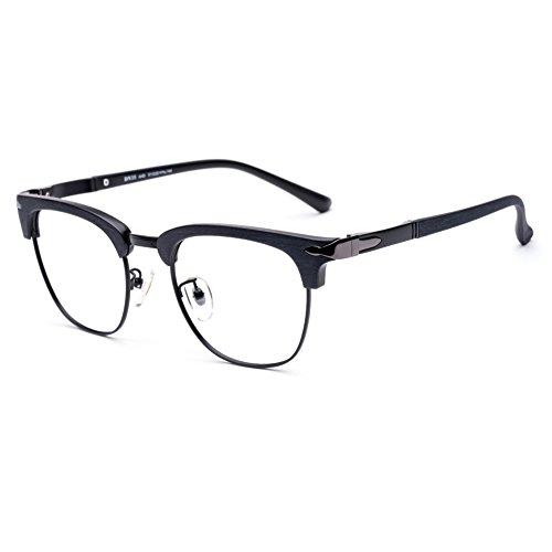 DONNA Popular Transparent Glasses Frames Non Prescription Spectacles Unbreakable DN35(Matte - Prescription Awesome Glasses