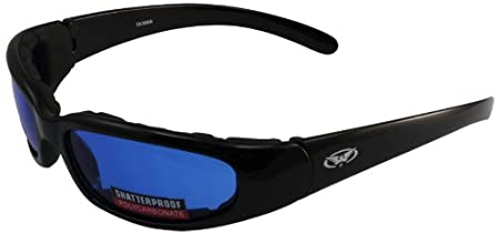 Global Vision Chicago Padded Riding Glasses Black Frame//Yellow Lens