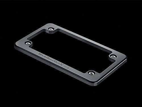 (WeatherTech (8AMPF1 Motorcycle License Plate Frame, Billet, Black)