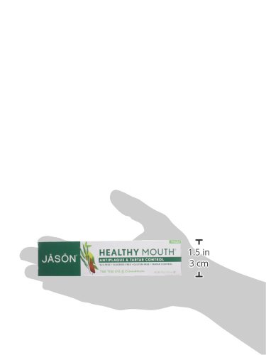 Jason Healthy Mouth Toothpaste, Tea Tree Oil & Cinnamon, 4.2 Ounces, Packaging May Vary