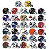 Nfl Stickers (50 NFL Football Stickers Logo Helmet Sticker Set (All 32 Teams plus 18) Saints Steelers Texans 49ers Bears Broncos Chiefs Cowboys Dolphins Eagles Giants Lions Packers Panthers Patriots Raiders)