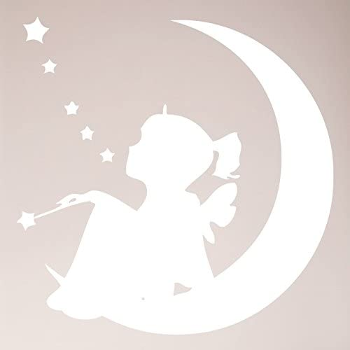 Fairy on  The Moon  Decal//Sticker New  Design Lady In The Moon Moon Fairy