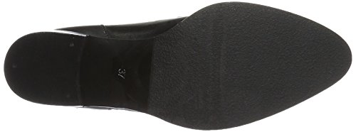 Buckle Open Mujer Boot negro Botas Jfm17 Bianco 5q6R8xndwq