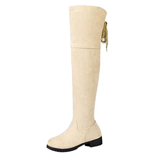 KemeKiss Women Round Toe Over Over Over The Knee Boots Zip B07HH31WP4 Shoes 09c266