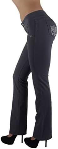 3033 - Brazilian Style Butt Lift, Levanta Cola, Fashion Moleton, Boot Leg