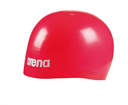 (Arena Moulded Pro II Swim Cap, Red)