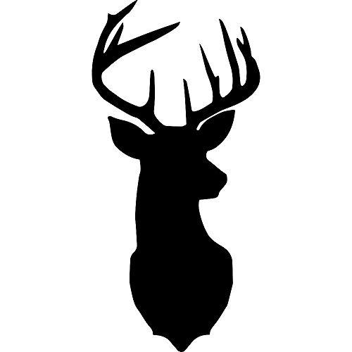 ANGDEST Deer Silhouette Art (Black) (Set of 2) Premium Waterproof Vinyl Decal Stickers for Laptop Phone Accessory Helmet Car Window Bumper Mug Tuber Cup Door Wall Decoration