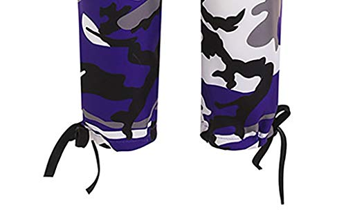 Pervobs Women's Casual Fashion Camouflage Sweatpants High Waist Sports Camouflage Pencil Trousers Pants(XL, Purple) by Pervobs Women Pants (Image #6)