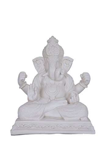12.2 Inches BIG Large Ganesh Statue Figure Sculpture Handmade of Marble Art Home Decor Best Gift India Special Handicraft