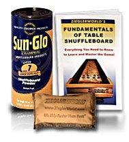 1 Can SunGlo Table Shuffleboard Bowler Shuffle Alley Wax - 1 pound Can Speed #7 + Talc + Shuffleboard Booklet