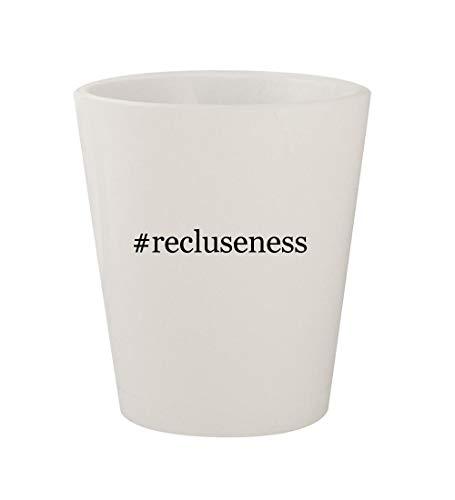 #recluseness - Ceramic White Hashtag 1.5oz Shot Glass