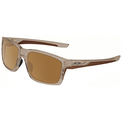 Oakley Mainlink Polarized Sunglasses, Matte Sepia/Tungsten Iridium, One Size (Matte Sepia)