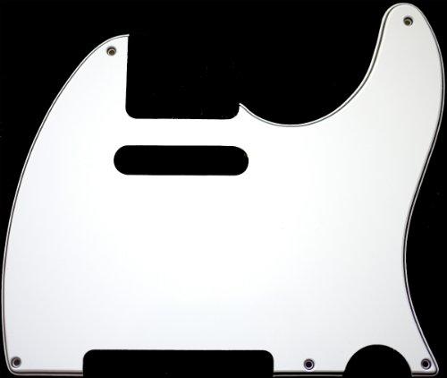 MIJ Pickguard for Telecaster '52 White 3Ply fa-pg-tl52-w3 - Telecaster Bass Pickguard
