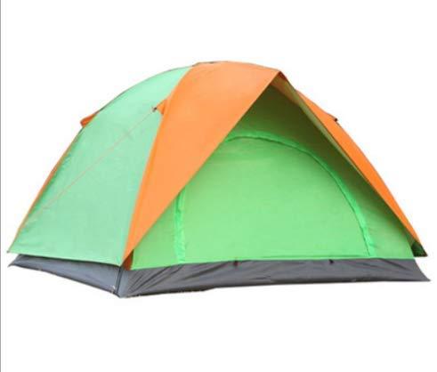 屋外の3人の防雨のテントの二重ドアの二重ドアのキャンプテント野生のキャンプのテント (Color : グリンー)  グリンー B07N2P1VGY