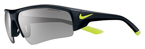 Nike EV0861-007 Skylon Ace XV Pro Sunglasses (One Size), Matte Black/Volt, Grey with Silver Flash - Nike Sunglasses Baseball