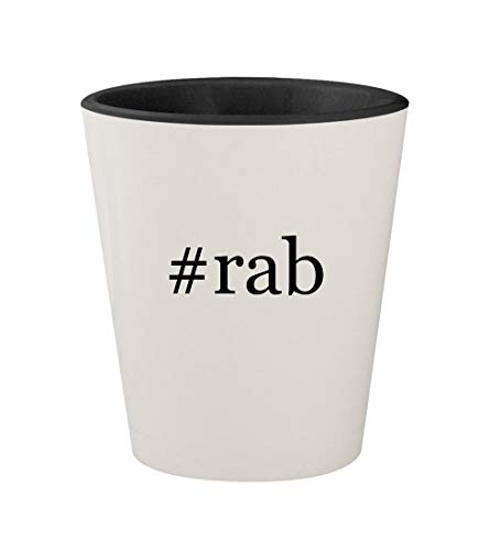 (#rab - Ceramic Hashtag White Outer & Black Inner 1.5oz Shot Glass)