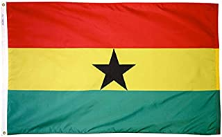 product image for Annin Flagmakers Model 192972 Ghana Flag Nylon SolarGuard NYL-Glo, 5x8 ft, 100% Made in USA to Official United Nations Design Specifications