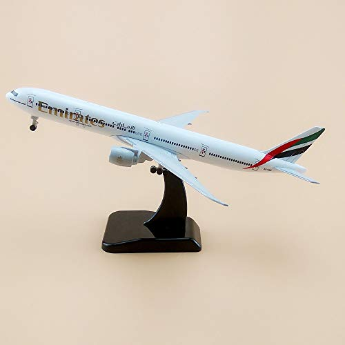 ZAMTAC 19cm Metal Plane Model Air Emirates Airlines B777 300ER Airplane Model Boeing 777 Airways Aircraft w Wheels Stand