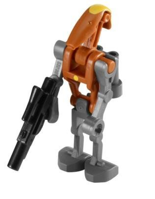 Lego Minifigure   Star Wars   Rocket Battle Droid With Blaster Gun  Commander