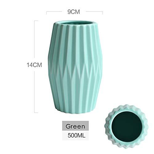 (shiny star show Matt Flower Vase Accessories Centerpiece Ceramics Vases for Home Wedding Decoration,Green 01)
