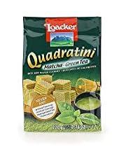 Loacker Quadratin Matcha Wafer Cookies, 220g/7.76oz, Matcha, 220 Grams