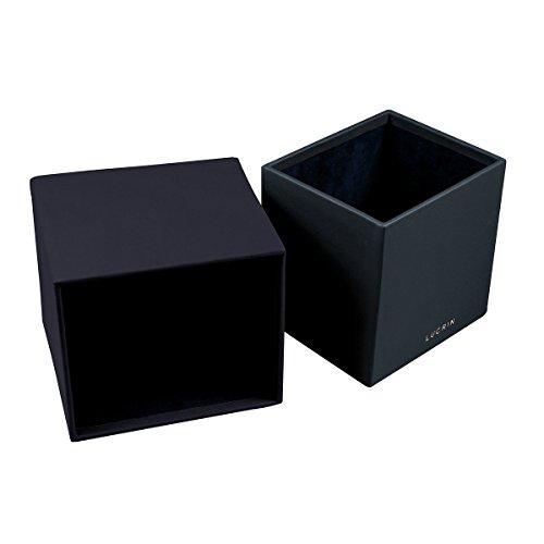 Cuir Lucrin Blanc carrée Boite Bleu mouchoirs pour Lisse wXqazXf