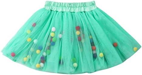 Happy Cherry Girls Short Tutu Skirt 0-10 Years Tutu Skirt with Pom Pom Colourful for Halloween Christmas Ballet