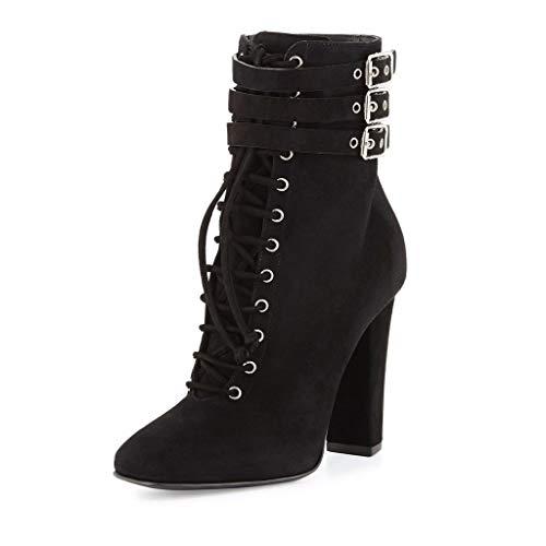Frauen High Plattform Verdickung Mode Warme Röhre Heel Stiefel Stiefel Stiefel Slip Mit der Wasserdicht Nackte Dick rrUqad